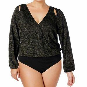 Love & Legend Long Sleeve Bodysuit Size 2X NWT